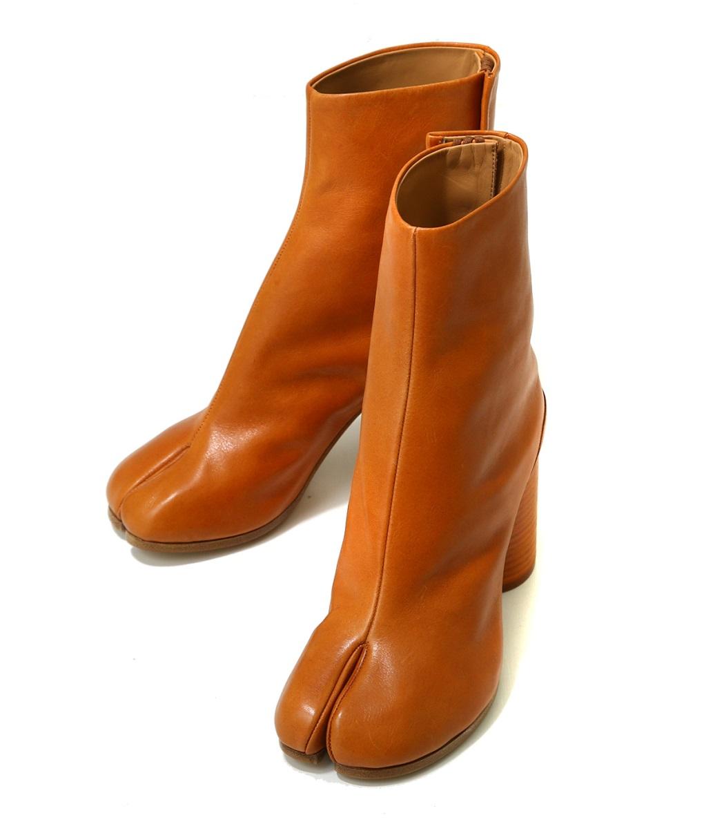 Maison Margiela / メゾン マルジェラ : 【レディース】TABI BOOTS : タビブーツ ショートレザーブーツ ブーティー レディース : S58WU0260 【ANN】