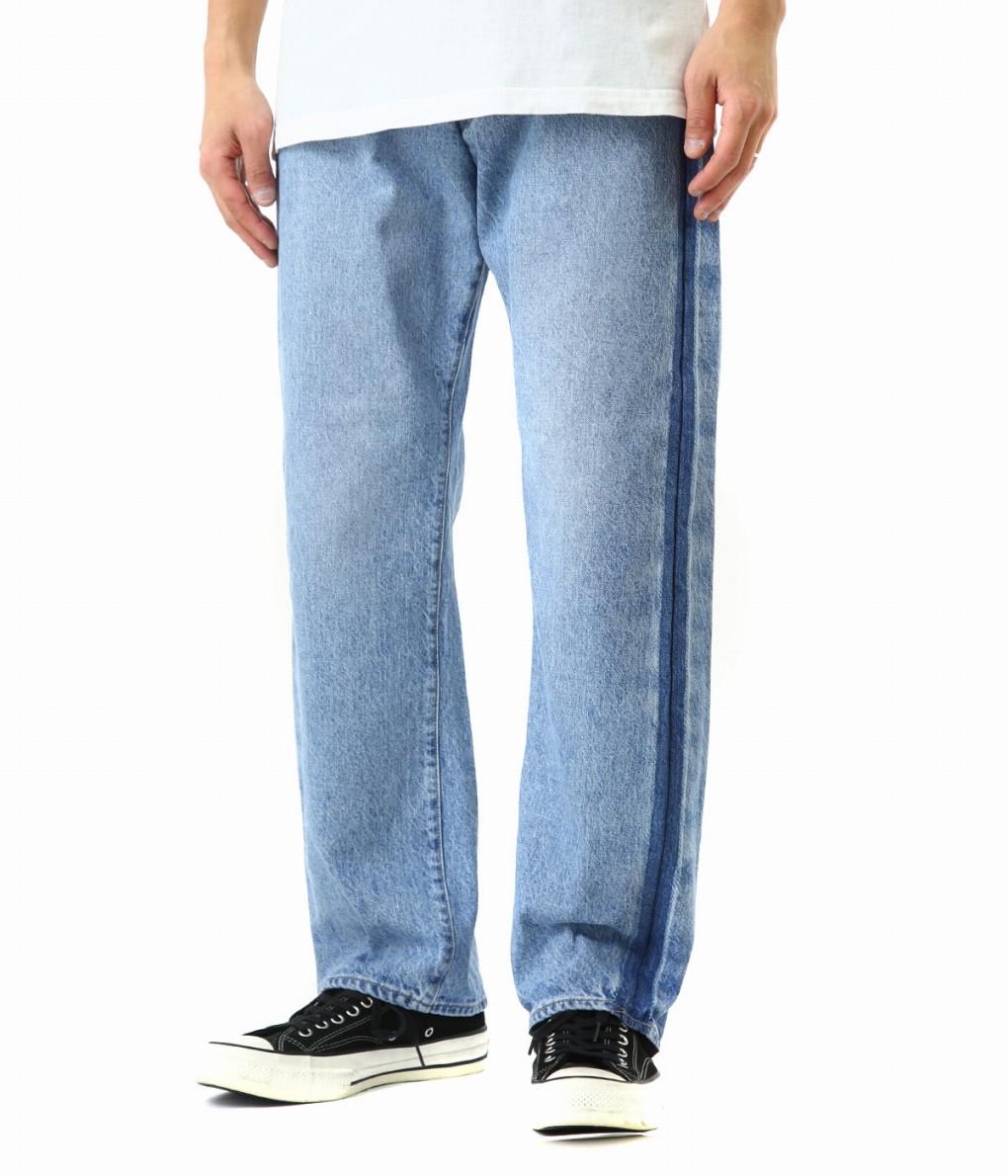 KAPTAIN SUNSHINE / キャプテンサンシャイン : Baggy Cut Straight Denim pants (Washed&remaked Side-seam) : デニムパンツ パンツ メンズ : KS9SPT23 【NOA】