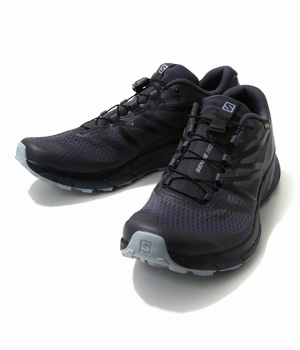 SALOMON / サロモン : SENSE RIDE 2 GORE-TEX INVISIBLE FIT  EBONY/BLACK/QUARRY : サロモン センス ライド ゴアテックス インビジブル フィット ブラック スニーカー 靴 シューズ : L40707800 【AST】