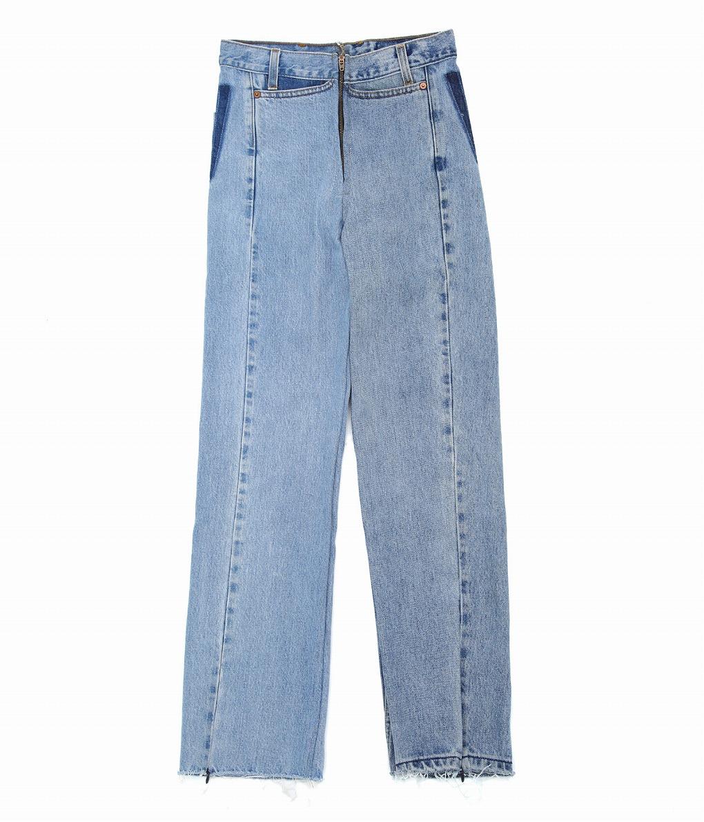 77circa / ナナナナサーカ : 【別注】circa make cut off rotated 90° denim pants(length 105) -26inch- : 別注 サーカ メイク カットオフ デニムパンツ パンツ レディース : cc-ak01-BLU-26-01 【ANN】