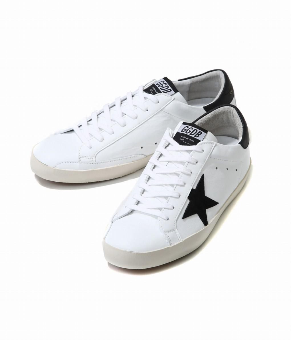 GOLDEN GOOSE / ゴールデングース : SNEAKERS SUPERSTAR -WHITE-BLACK-GOLD- : ゴールデングース スニーカー 靴 レザー 本革 ヴィンテージ加工 フランシー メンズ : G34MS590-N30【RIP】