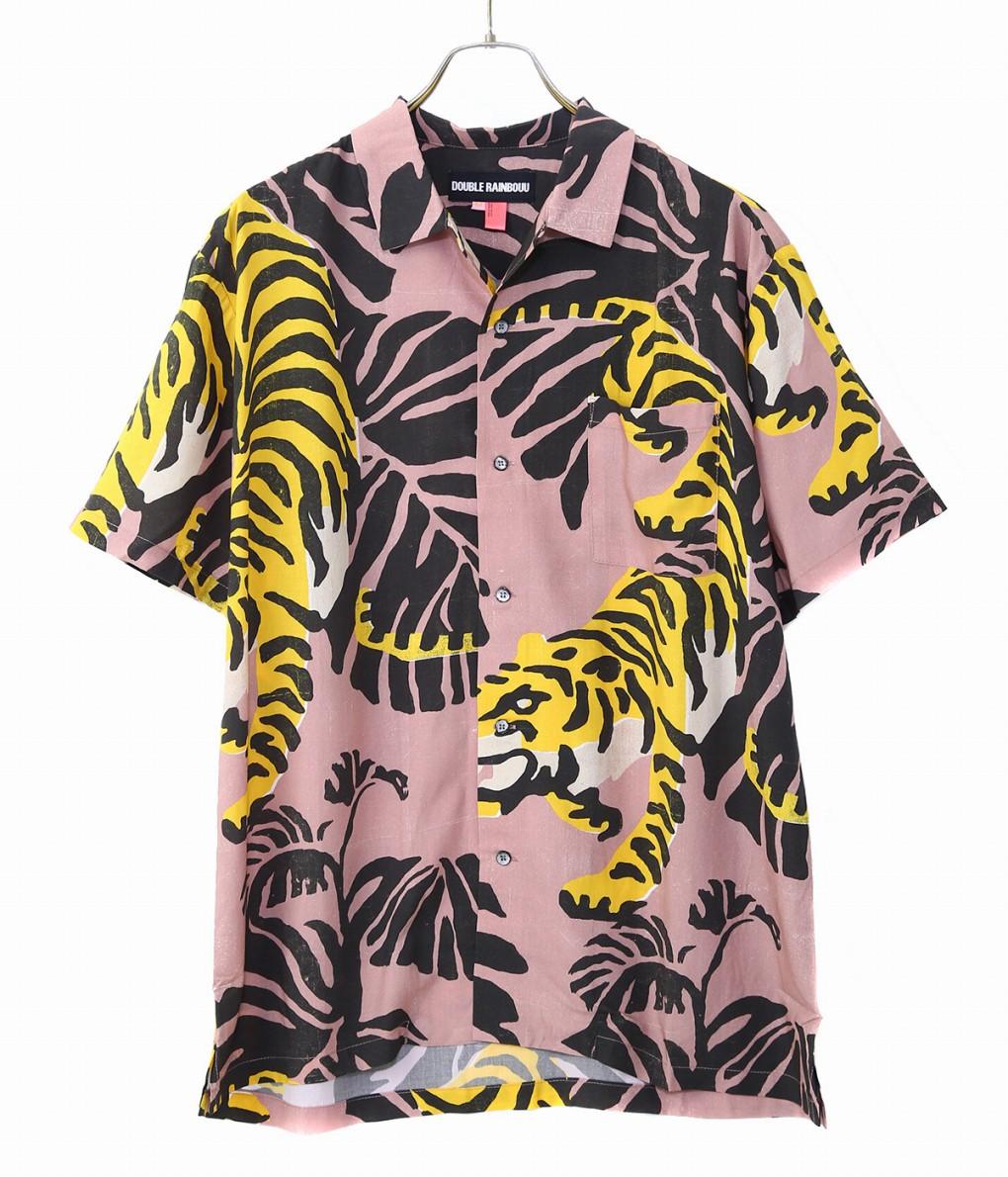 DOUBLE RAINBOUU / ダブルレインボー : NIGHT CRAWLER : ダブル レインボー アロハ 半袖 オープンカラーシャツ メンズ : DRSS0017 【PIE】【REA】