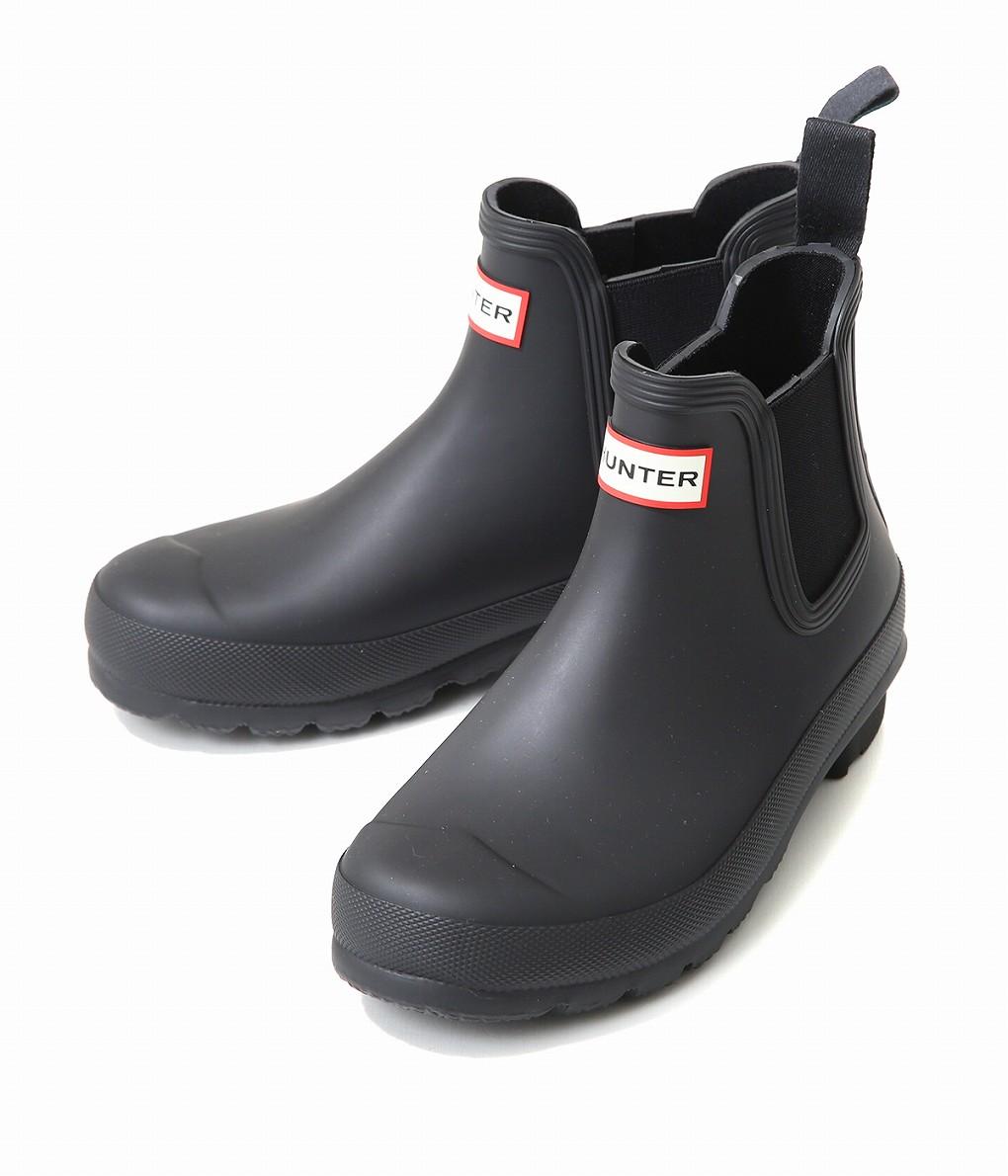 HUNTER / ハンター : 【レディース】WOMENS ORIGINAL CHELSEA ONE TAB US -BLACK- : HUNTER レインブーツ ハンター チェルシー 長靴 雨 : WFS2006RMA 【DEA】