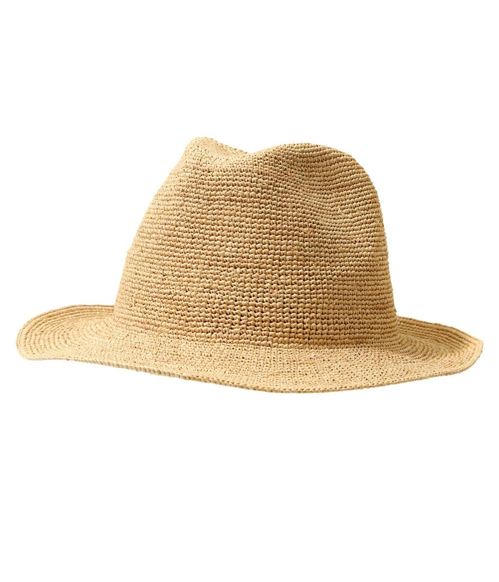 KIJIMA TAKAYUKI / キジマ タカユキ : RAFFIA HAT : キジマタカユキ 帽子 ナイロン ラフィア ハット メンズ : 191331 【RIP】