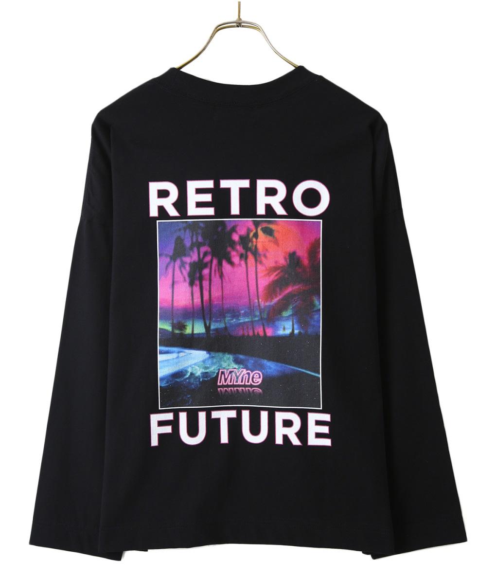 MYne / マイン : RETRO FUTURE L/S T-Shirt / 全2色 : レトロ フューチャー エルエス ロングスリーブ ティーシャツ ロンティー 19SS 19春夏 : G02LT271 【WAX】