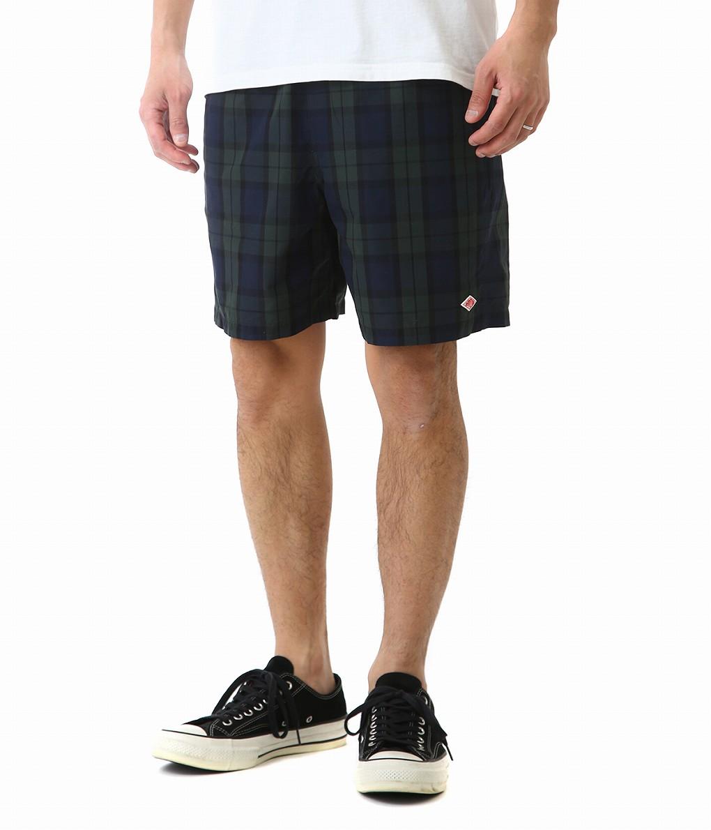 DANTON / ダントン : NYLON TAFFETA CHECK SHORT PANTS : ダントン ナイロン チェック ショート パンツ メンズ : JD-2603-NPL 【STD】