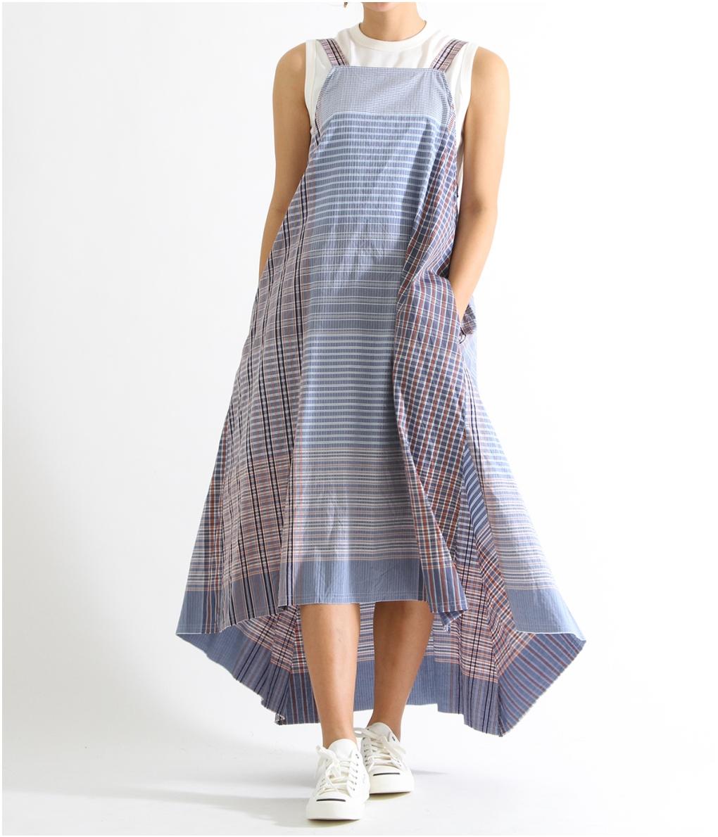 beautiful people / ビューティフルピープル : patchwork pattern apron dress : パッチワーク パターン エプロン ドレス レディース : 1915104008 【ANN】