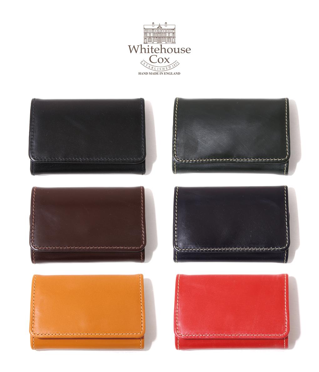 Whitehouse Cox / ホワイトハウスコックス : COIN PURSE (Bridle Leather) / 全6色 : ブライドル レザー コインケース 財布 小銭入れ ブライドル ギフト プレゼント ラッピング可能 メンズ レディース : S-9084-BRI【MUS】