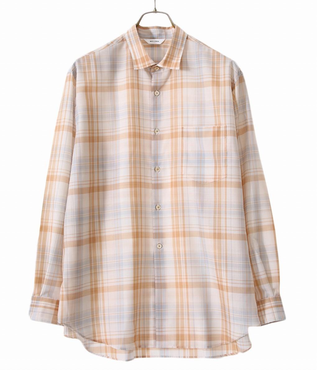 WELLDER / ウェルダー : WELLDER Standard Shirt -IVORY / HAZEL- : ウェルダー スタンダード シャツ メンズ : WM20SSH03-ivory-hazel 【NOA】【BJB】