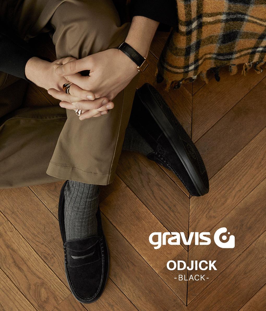 キャッシュレス5%還元!【正規取扱 / 昼12時30分までの注文で即日発送】 GRAVIS / グラビス : ODJICK : オジェック シューズ 靴 スリッポン メンズ : 25220 【NOA】