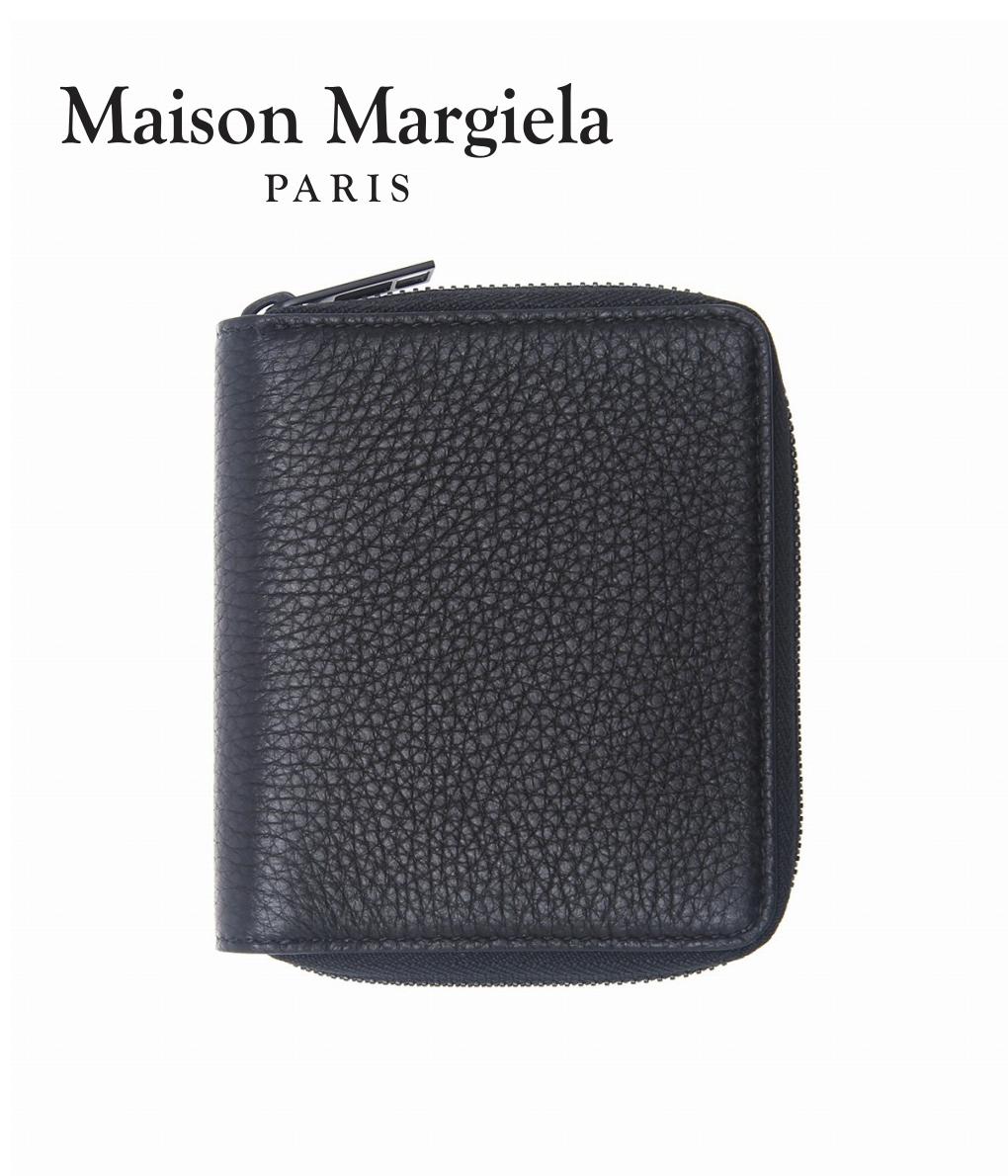 Maison Margiela / メゾン マルジェラ : ROUND ZIP WALLET : メゾン マルジェラ ラウンド ジップ ウォレット 財布 レザーウォレット メンズ : S55UI0197【RIP】【BJB】