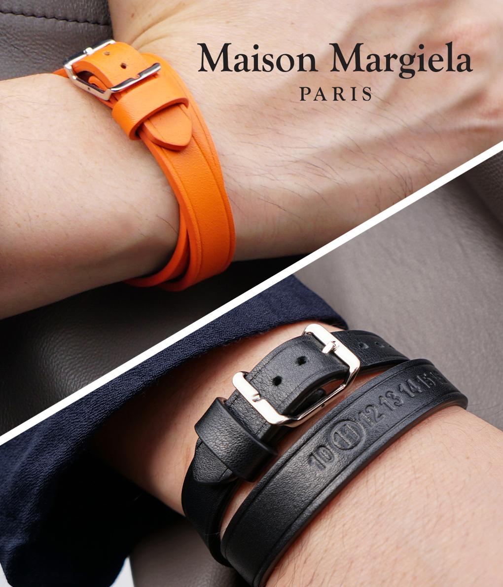 Maison Margiela / メゾン マルジェラ : LEATHER BRACELET / 全2色 : メゾン マルジェラ レザー ブレスレット アクセサリー 小物 メンズ : S50UY0029 【RIP】
