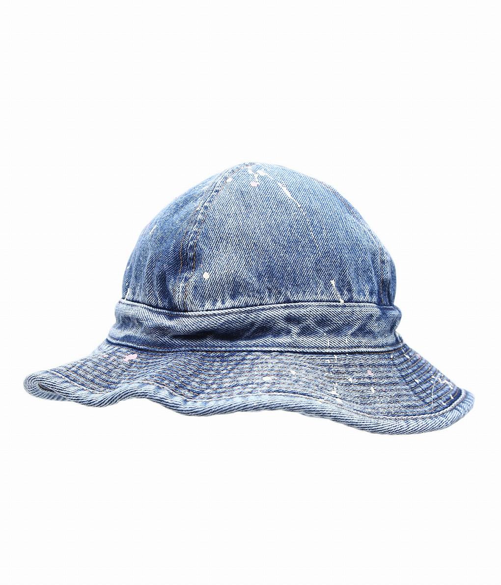 orSlow / オアスロウ : US NAVY HAT 2YR WASH with PAINT : ユーエス ネイビー 2イヤー ウォッシュ ペイント 帽子 メンズ レディース ユニセックス : 03-001-P84 【STD】