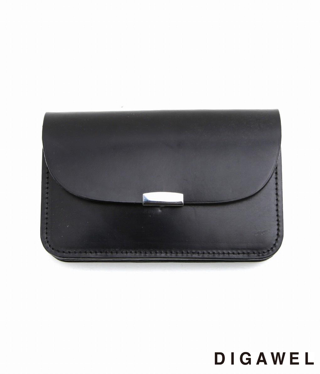 DIGAWEL / ディガウェル : GARSON PURSE -Bridle leather- / 全4色 : ギャルソン パース ブライドルレザー 財布 ウォレット メンズ : DWZ0Z003 【COR】