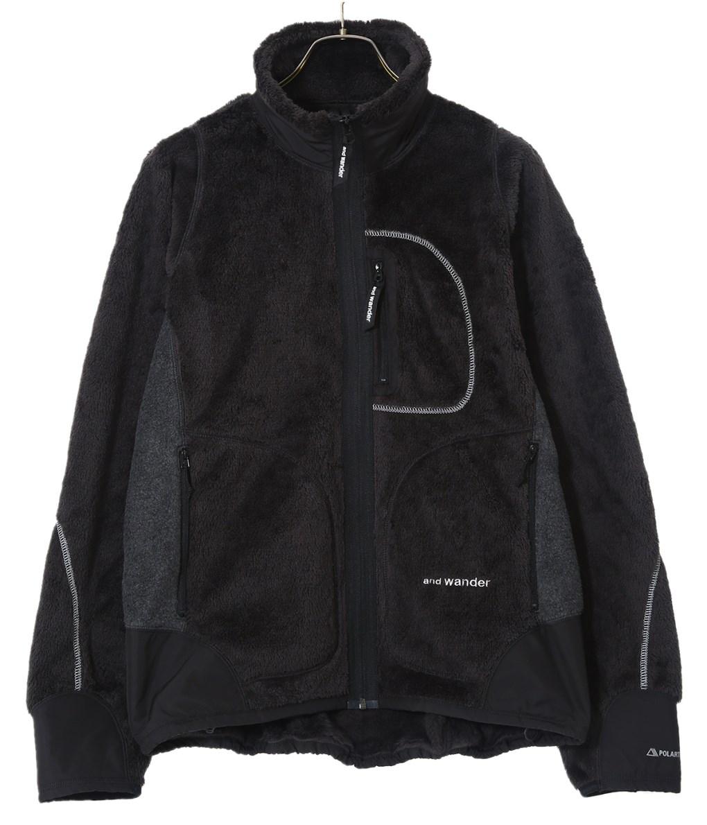 and wander / アンドワンダー : high loft fleece jacket : ハイ ロフト フリース ジャケット : AW93-JT601 【PIE】
