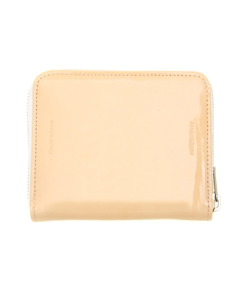 Hender Scheme / エンダースキーマ : square zip purse -patent natural- : スクエア ポーズ レザー ウォレット 財布 長財布 革小物 : fl-rc-szp 【RIP】【ANN】