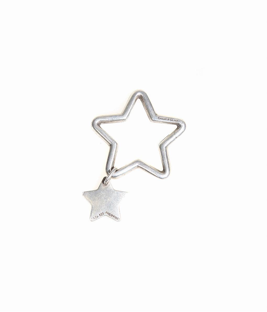 VINTAGE / ヴィンテージ : VINTAGE TIFFANY STAR KEYRING : ヴィンテージ ティファニー アクセサリー アンティーク シルバー キーリング クリスマス クリスマスプレゼント : VT-TF-STAR-KR【VIN】
