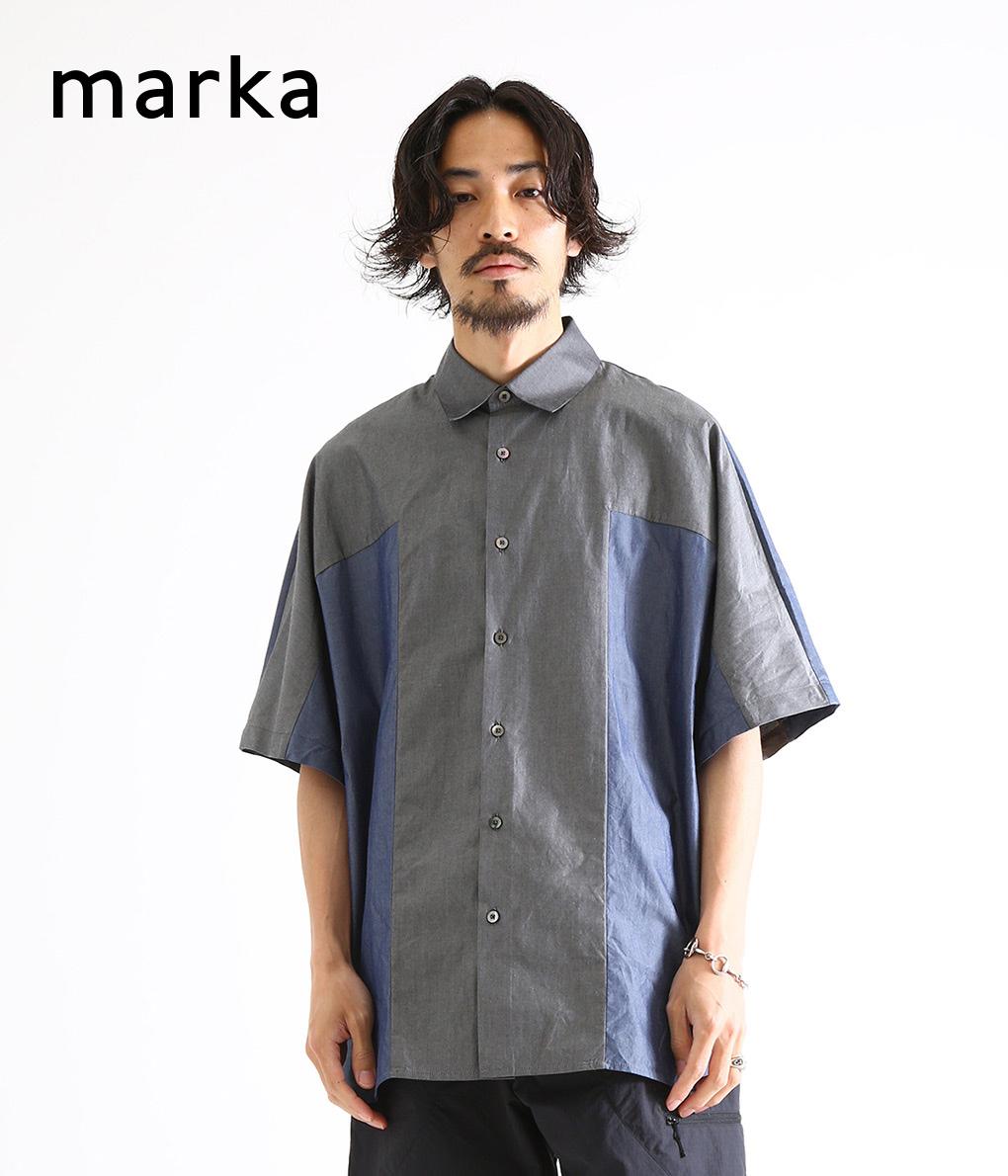 marka / マーカ : PANEL SHIRTS / 全2色 : マーカ パネルシャツ シャツ 半袖シャツ コットン メンズ : M19B-04SH01B 【COR】【WIS】