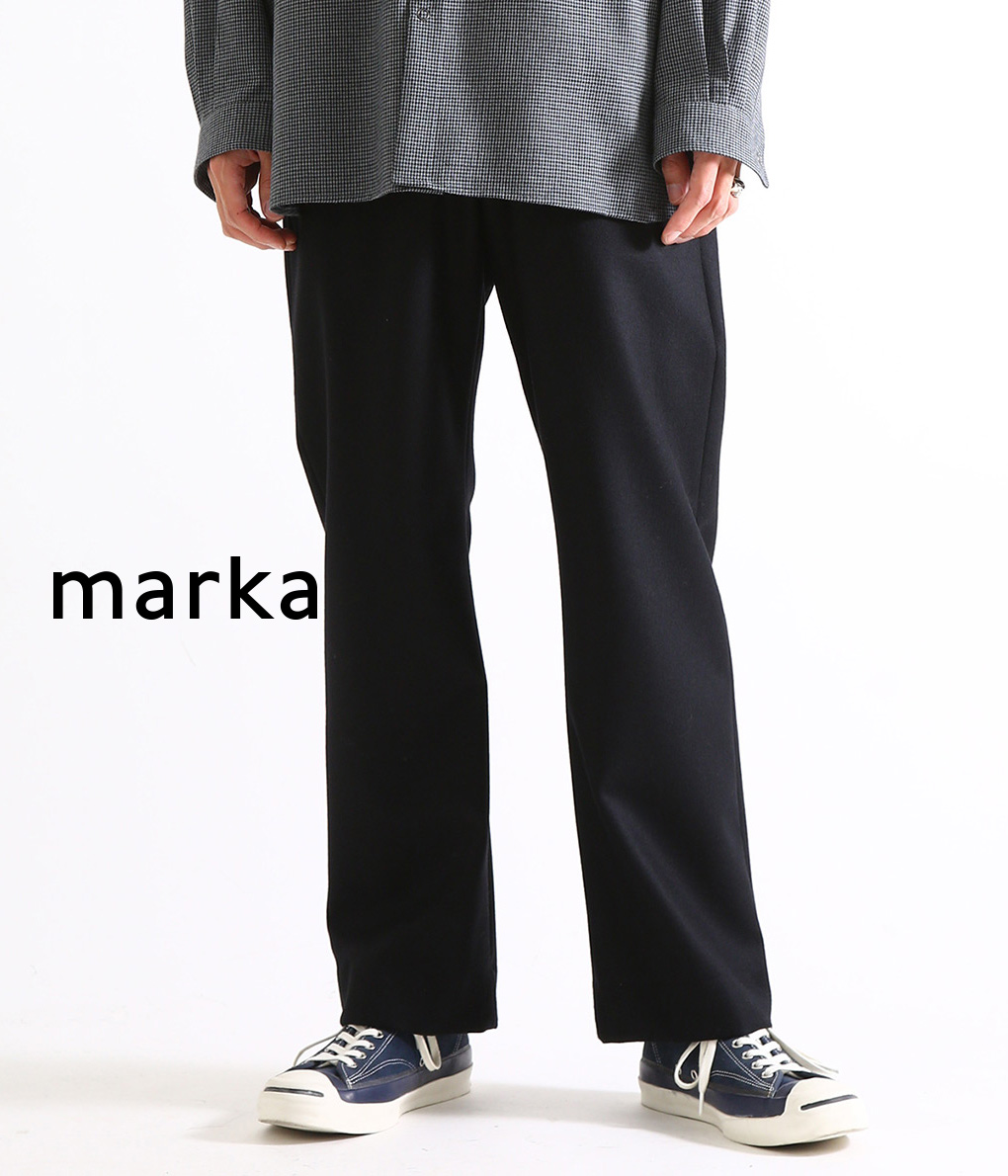 marka / マーカ : STRAIGHT FIT EASY - wool flannel - 全4色 : マーカ ストレートフィットイージー イージーパンツ ウールパンツ メンズ : M19C-03PT03C【COR】【WIS】
