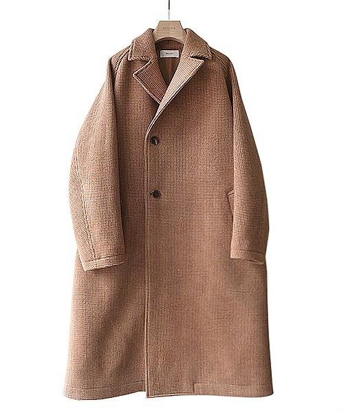 ■【予約商品 2019年10月~12月入荷予定】WELLDER / ウェルダー : Double Breasted Balmacaan Coat : ※入荷時カラー確認 ダブル ブレマカーン コート メンズ : WM19FCO03【NOA】