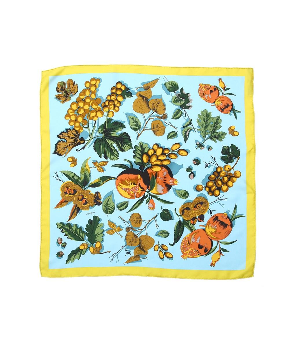 manipuri / マニプリ : <Silk scarf(65cm×65cm)>-AUTUMN- : マニプリ スカーフ オータム : Silk-scarf-AUTUMN 【ANN】