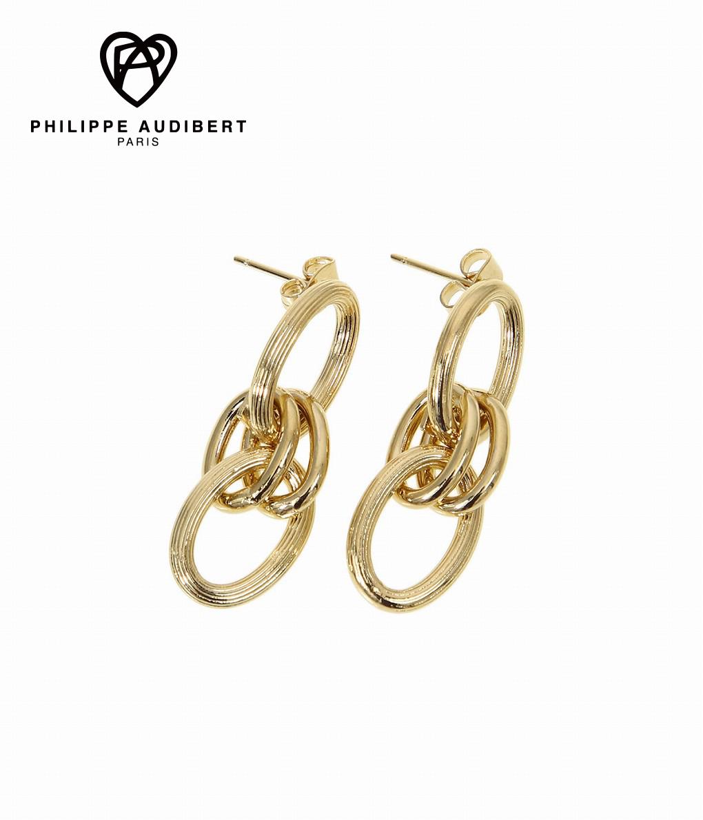 PHILIPPE AUDIBERT / フィリップオーディベール : Byron pm earring S brass(light gold) : イヤリング ピアス ゴールドカラー レディース : BO4615-GOLD【ANN】