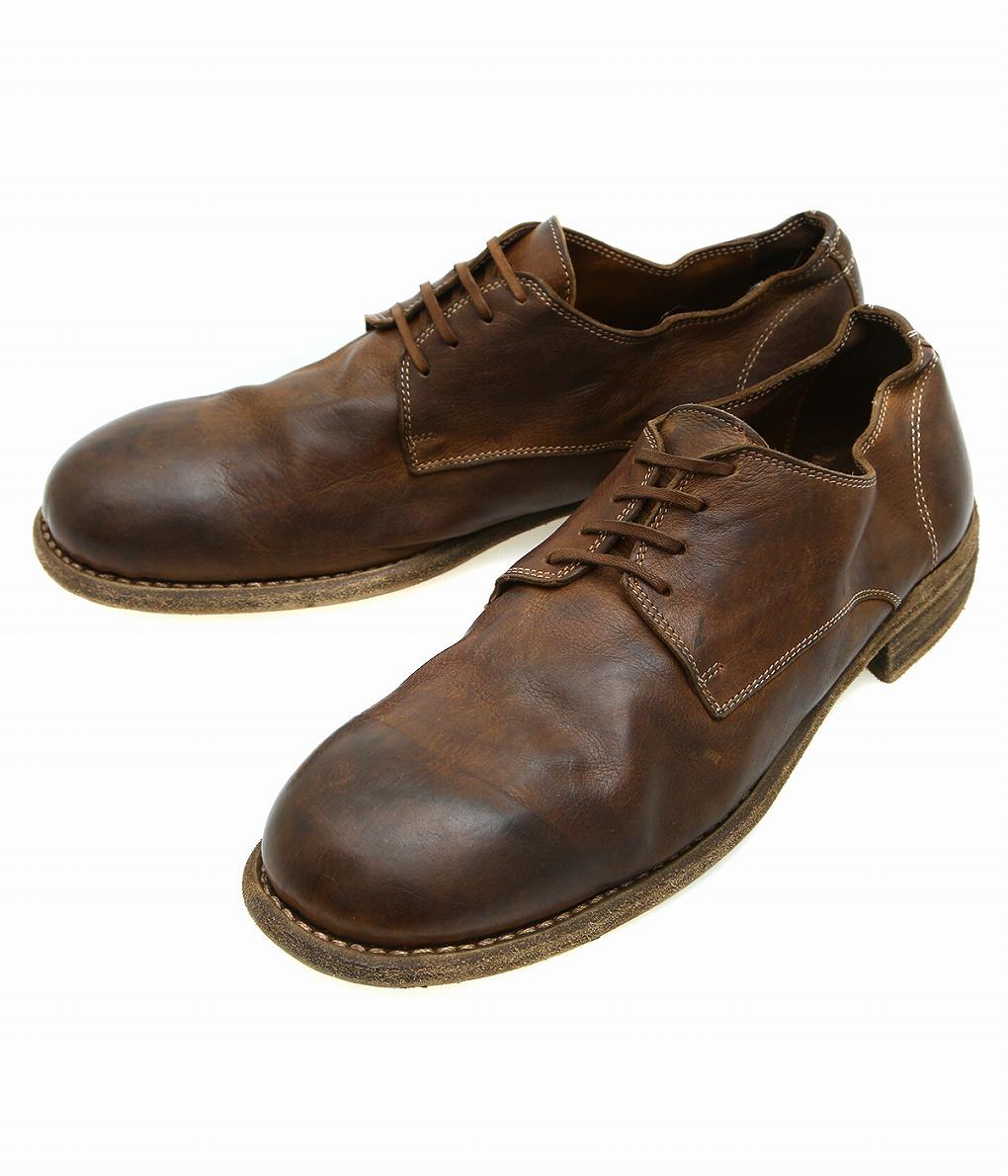 GUIDI / グイディ : LOWLACE SHOES : ローレースシューズ カーフ レザーシューズ 革靴 メンズ : 992-LOWLACE-BCALF 【RIP】