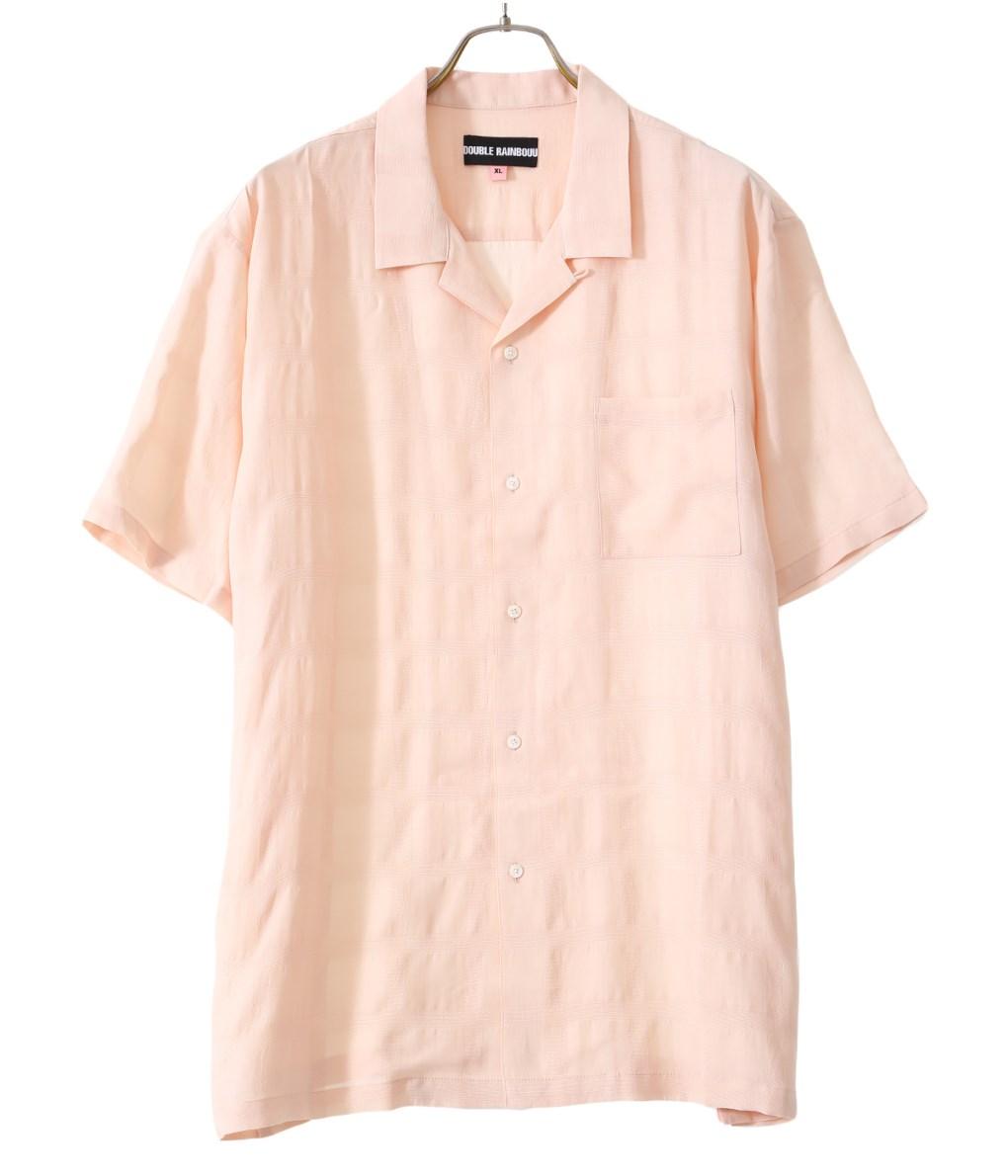 DOUBLE RAINBOUU / ダブルレインボー : CREAM PINK : クリーム ピンク アロハ シャツ : DR001D 【PIE】