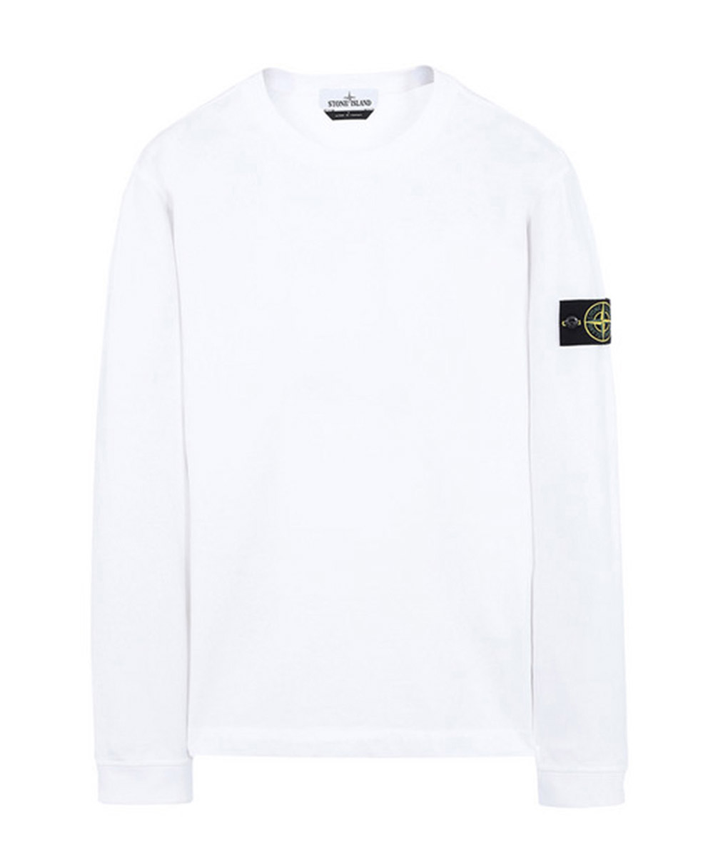 STONE ISLAND   Ai Stone land  All HEAVY COTTON JERSEY LONG SLEEVE T-SHIRTS    two colors  Heavy cotton jersey Longus Reeve Ron T cut-and-sew  701562150