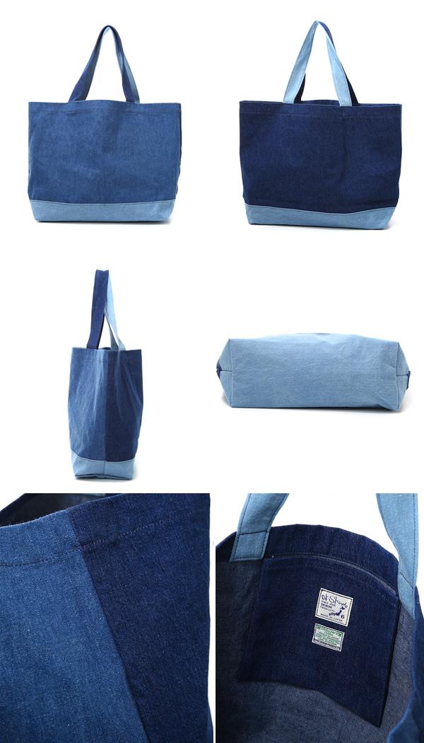 Orslow Or Low Tote Bag Denim Mix 03 017 182m