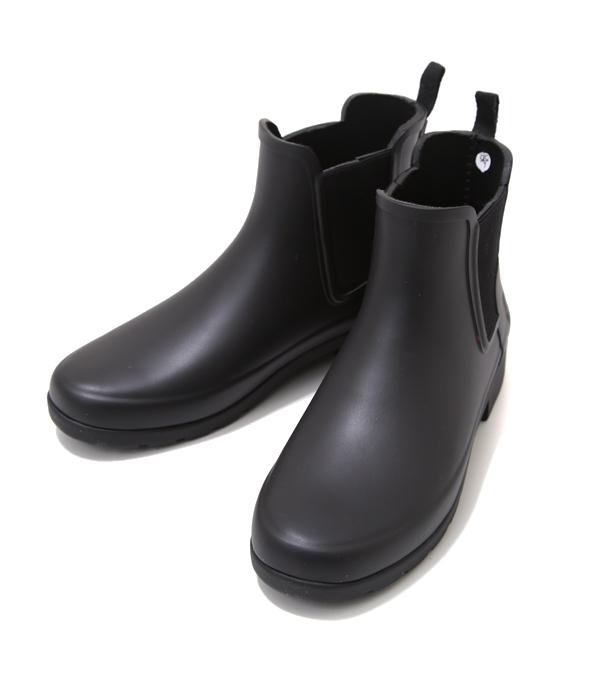 HUNTER / ハンター : 【レディース】W ORG REFIND CHELSEA-BLACK- : ハンター レインブーツ チェルシー レディース 長靴 雨 : WS1017RMA-BLK【DEA】