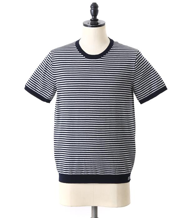 991 / キューキューイチ : GIZA (Border) T-Shirt : ギザ ボーダー ティーシャツ Tシャツ 半袖 カットソー 無地 : YAGH202Y【MUS】