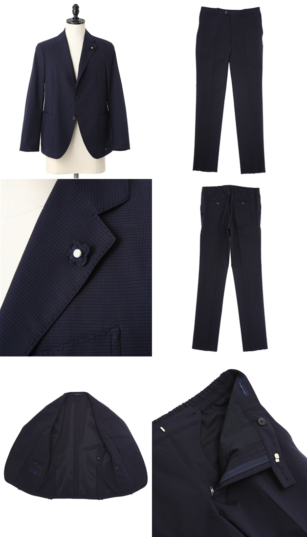 LARDINI (ラルディーニ) / PACKABLE SUIT-NAV (スーツパッカブルスーツセットアップジャケット) JKECO21AQ-850