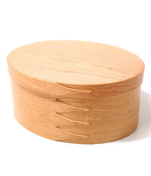 【期間限定送料無料!】BRENT ROURKE [ブレント ルーク] / oval shaker box-c+ -Type E- (29.5cm×23cm×13.5cm) (ウッド シェーカー ボックス 箱 収納 Interior 雑貨 ギフト シェイカーボックス) BR001-5【DEA】