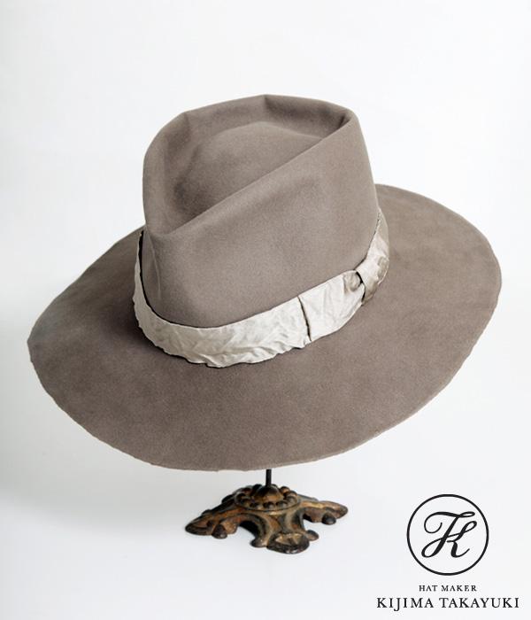 【期間限定送料無料!】KIJIMA TAKAYUKI / キジマ タカユキ COEUR クール : Beaver Felt Hat - ARKnets exclusive model - [Khaki] (ワイド ブリム ハット クール 帽子 ビーバー ユニセックス 別注 ARKnets限定) 16101-ARK-35【RIP】【BJB】