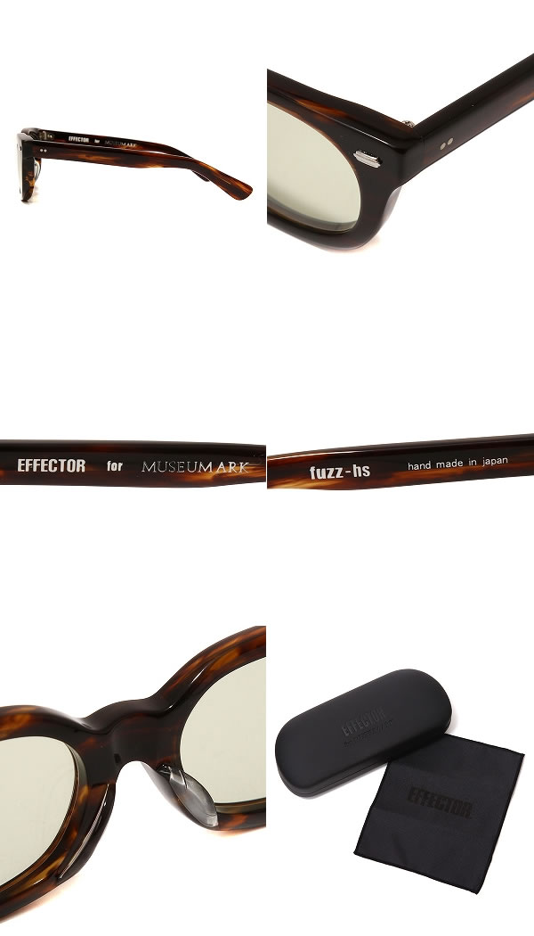 EFFECTOR (effectors) and FUZZ HS Ver.2-cognac-and-EFFECTOR effector eyewear glasses different fuzz note limited FUZZ-HS2-CO