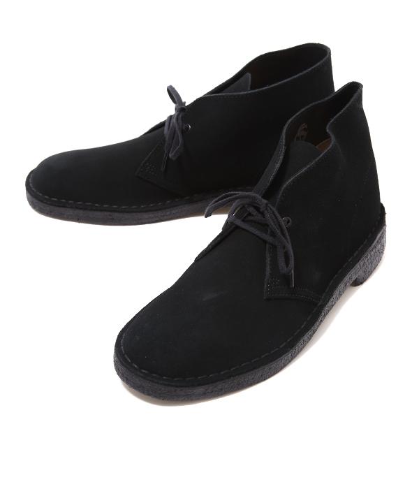 Clarks / クラークス : DESERT BOOT -BLK SUEDE- : デザート ブーツ レザー シューズ 靴 クラークス : 26107882【STD】