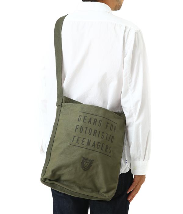 HUMAN MADE (human made) and CANVAS SHOULDER BAG (bags canvas shoulder bag) HM12GD007