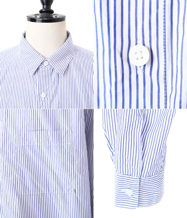 UNUSED [unused] / stripe shirt. (Long-sleeved striped shirt) US1205