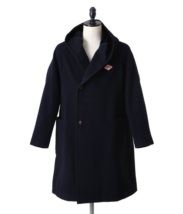 DANTON (Danton) / WOOL LIGHT MOSSER HOODED COAT (wall light Moss hooded coat) JD-8736-LMM