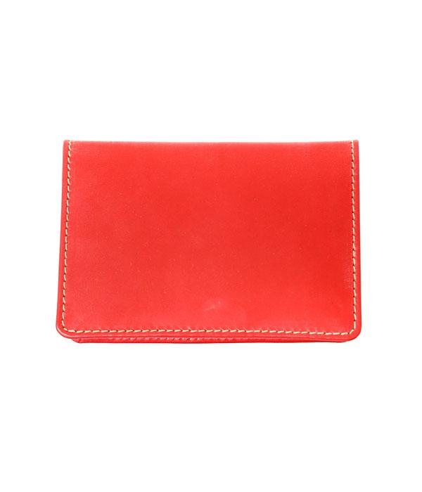 Whitehouse Cox / ホワイトハウスコックス : NAME CARD CASE-レッド- : ネームカードケース カード入れ ブライドルレザー ビジネス ギフト プレゼント ラッピング可能 : S-7412-RED【ANN】