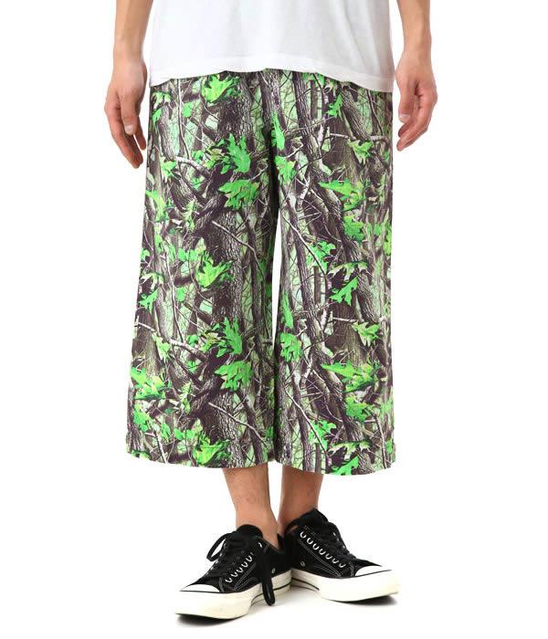 【アウトレットキャンペーン!】PHENOMENON / フェノメノン : Camouflage 9/10 Length Wide Pants : Camouflage 9/10 Length Wide Pants カモ カモフラージュ ハーフ ショーツ ワイド ニー パンツ : PM16LPT06603 【WAX】
