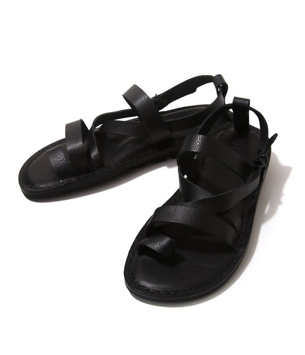 TRIPPEN (trippen) and TROY (leather sandals) / TROY-WAW-61-BLK