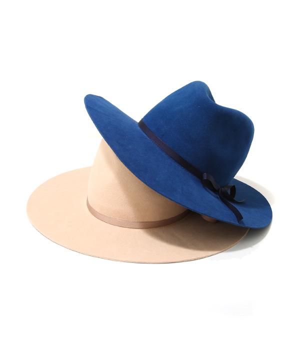 UNUSED / アンユーズド : Dead stock rabbit fur Hat. / 全2色 (サイズ00~1サイズ) : リボンハット 帽子 ラビット ファー メンズ ユニセックス レディース : UH0402【NOA】