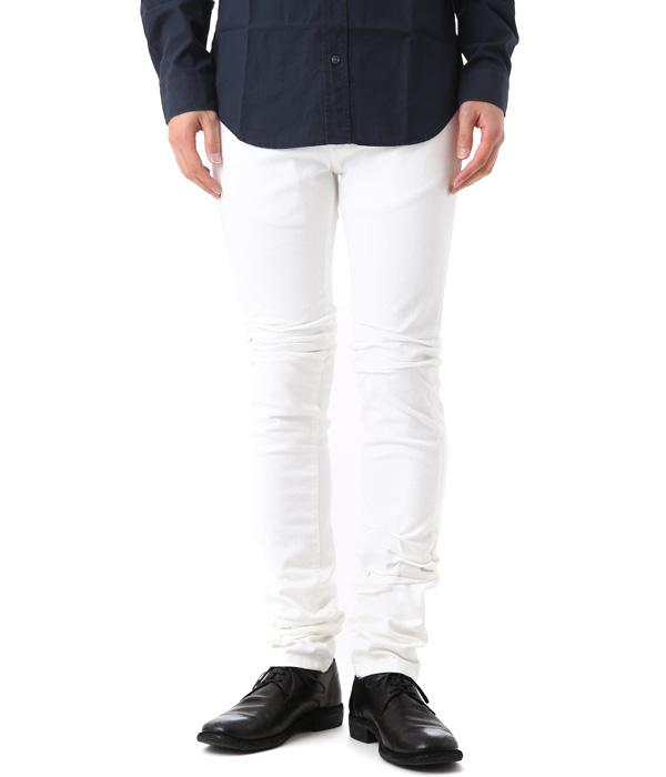 Maison Margiela / メゾン マルジェラ : 【メンズ】Shock 3d Resineted Pants -Off White- : パンツ コットンツイル タイトパンツ スキニー ボトムス マルタンマルジェラ : S30LA0095-OFF【RIP】