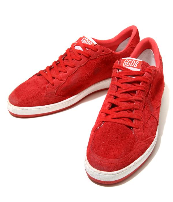 GOLDEN GOOSE [golden goose] / SNEAKERS BALL STAR -RED SUEDE/RED STAR- (golden goose sneakers shoes vintage) G28MS592-C8