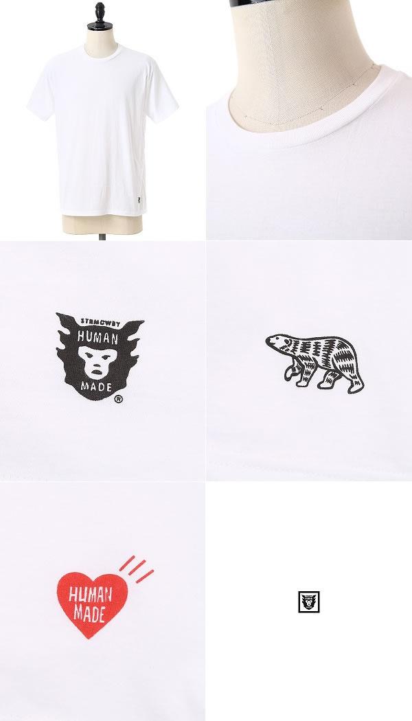 HUMAN MADE(人道佣人)/3PACK TEE(TEE T恤针织短袖包球座)HM11CS009