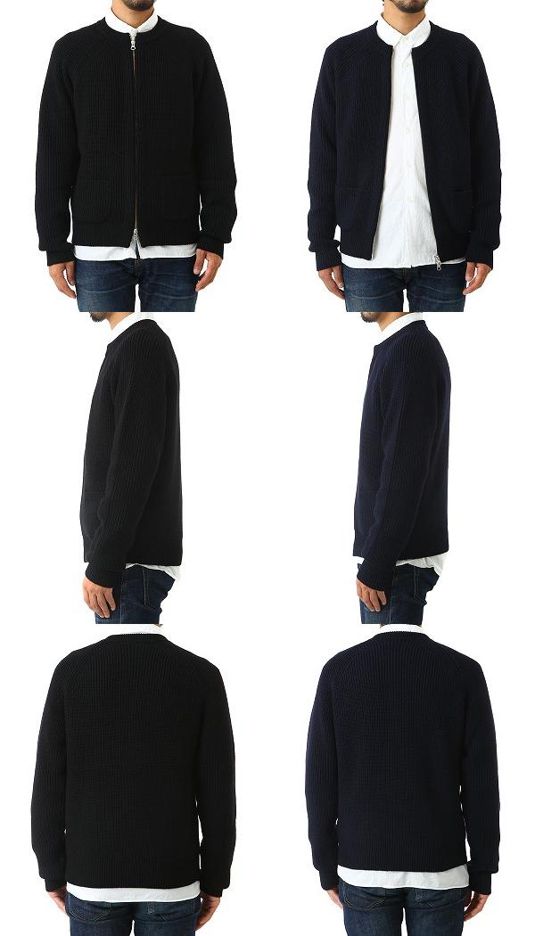 SLOANE / スローン : 5Gあぜ編みジップカーディガン / 全2色 : ニット 丸首 ニット セーター : SL2W-015【MUS】