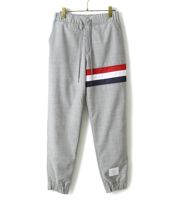 【SPECIAL PRICE!】THOM BROWNE / トム ブラウン : SWEATPANTS W/SEAMED IN RWB STRIPE INSUPER 120S PLAIN WAVE : イージーパンツ : MJQ034A02897 【RIP】