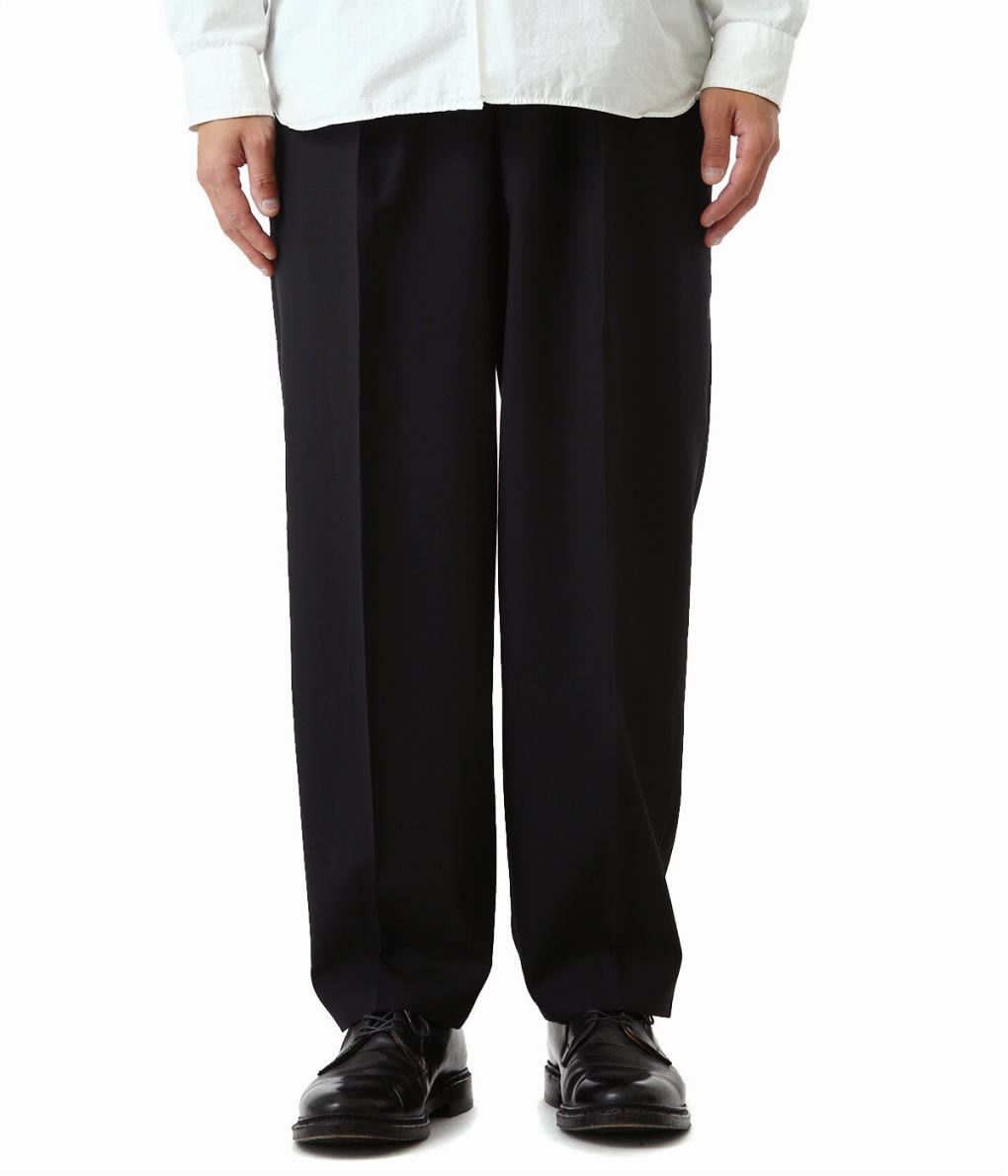 MARKAWARE / マーカウェア : CLASSIC FIT TROUSERS -ORGANIC WOOL TROPICAL- : クラシック フィット トラウザー パンツ : A19A-11PT02C 【MUS】【WIS】